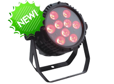9pcs 18W 6in1 LED Outdoor Par Light
