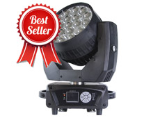 Aura Backlight 19pcs 15W RGBW 4in1 LED Moving Head Zoom Wash Light